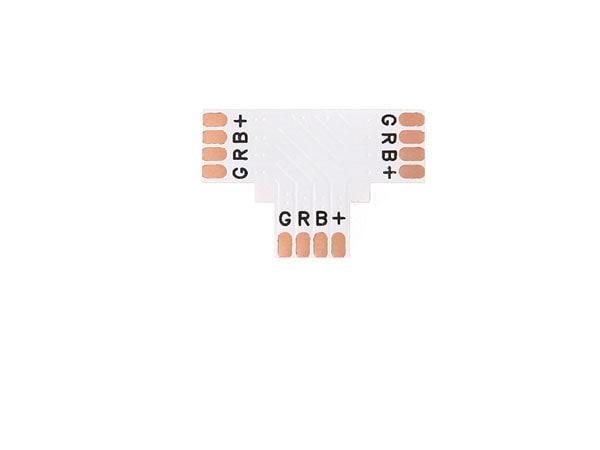 Berge Spojka rohová T kus pro RGB LED pásky 10mm